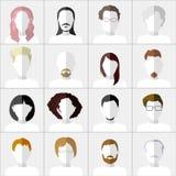 Vlakke Mensenpictogrammen Reeks modieuze mensenpictogrammen  Royalty-vrije Stock Afbeeldingen