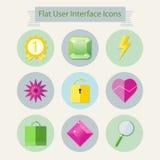 Vlakke moderne pictogrammen voor gebruikersinterface 2 Royalty-vrije Stock Afbeelding