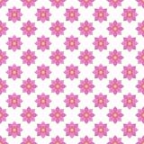 Vlakke naadloze het patroonachtergrond van het ontwerp roze bloemenpatroon Royalty-vrije Stock Afbeelding