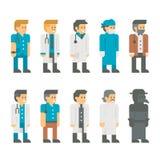 Vlakke ontwerp artsen eenvormige reeks Royalty-vrije Stock Fotografie