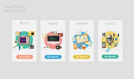 Vlakke ontwerp ontvankelijke UI mobiele app modellen Royalty-vrije Stock Afbeeldingen