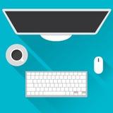 Vlakke ontwerpconcepten voor zaken, wereldmarkt, marktberekening, het bureauwerk, Concepten en pictogrammen voor Webbanners, vect Royalty-vrije Stock Foto's