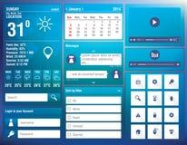 Vlakke ontwerpelementen voor mobiele app stock illustratie