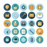 Vlakke Ontwerppictogrammen voor Gebruikersinterface Stock Afbeelding