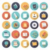 Vlakke ontwerppictogrammen voor zaken en financiën Stock Foto