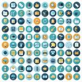 Vlakke ontwerppictogrammen voor zaken en financiën vector illustratie