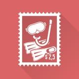 Vlakke ontwerpzegel Stock Afbeelding
