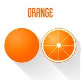 Vlakke oranje het pictogram vectorillustratie van de ontwerpstijl Royalty-vrije Stock Fotografie