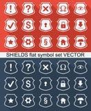 Vlakke pictogrammen Stock Afbeeldingen