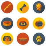 Vlakke pictogrammen die voor een hond geven Royalty-vrije Stock Afbeelding