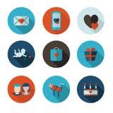 Vlakke pictogrammen van Heilige Valentine Royalty-vrije Stock Fotografie