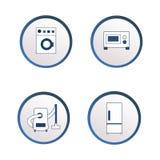 Vlakke pictogrammen van huishoudapparaten royalty-vrije illustratie