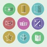 Vlakke pictogrammen voor online opslag Royalty-vrije Stock Foto