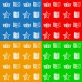 Vlakke pictogrammen voor online opslag Royalty-vrije Stock Afbeelding