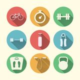 Vlakke pictogrammen voor sport Royalty-vrije Stock Afbeeldingen