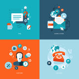 Vlakke pictogrammen voor Web en de mobiele diensten en apps Royalty-vrije Stock Foto