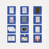 Vlakke pictogrammen voor zaken Stock Afbeelding