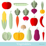 Vlakke pictogrammenfruit en groenten Royalty-vrije Stock Fotografie