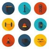 Vlakke pictogrammenmethodes van bescherming Royalty-vrije Stock Afbeelding