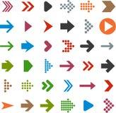 Vlakke pijlpictogrammen. Stock Afbeeldingen