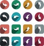 Vlakke pijlpictogrammen royalty-vrije illustratie