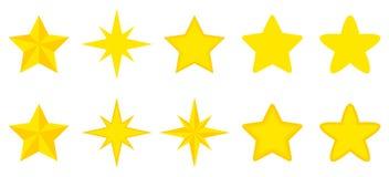 Vlakke reeks sterren Stock Fotografie