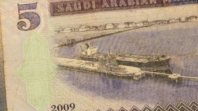 Vlakke Reeks van Saoediger - Arabische Bankbiljetten stock videobeelden