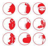 Vlakke ronde pictogrammen Royalty-vrije Stock Foto