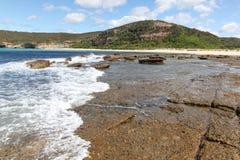 Vlakke Rots - Moonee NSW Australië Stock Afbeeldingen