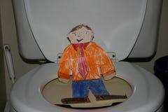Vlakke Stanley op het Toilet royalty-vrije stock foto