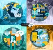 Vlakke Stijl UI UX aan gebruik voor uw bedrijfsproject royalty-vrije illustratie