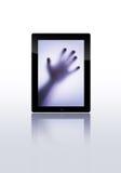 Vlakke tabletPC Stock Afbeeldingen