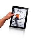 Vlakke tabletPC Royalty-vrije Stock Afbeeldingen