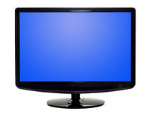 Vlakke TV Stock Afbeelding