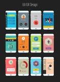 Vlakke Ui of mobiele appsuitrusting van UX Stock Foto's