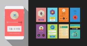 Vlakke Ui of mobiele appsuitrusting van UX Royalty-vrije Stock Afbeelding