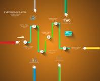 Vlakke UI-ontwerpconcepten voor unieke infographics royalty-vrije illustratie