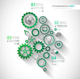 Vlakke UI-ontwerpconcepten voor unieke infographics Stock Afbeeldingen