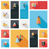 Vlakke ui van de vieringspartij met lange schaduw, eps10 Royalty-vrije Stock Afbeelding
