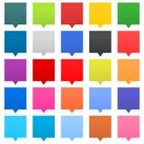 Vlakke van het het tekenweb van de toespraakbel het pictogram vierkante vorm Royalty-vrije Stock Foto