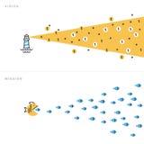 Vlakke vector de illustratieconcepten van het lijnontwerp voor zaken stock illustratie