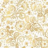 Vlakke vectorontwerpillustratie van gouden nieuw jaarpatroon stock afbeelding