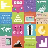 Vlakke Vierkante Infographics Stock Foto's