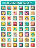 Vlakke Website universele pictogrammen Stock Foto's