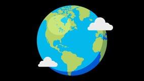 Vlakke wereld stock video