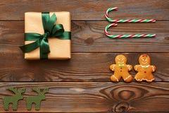Vlakte van de Kerstmis lag de eigengemaakte decoratie Royalty-vrije Stock Fotografie