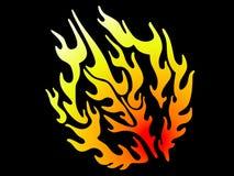 Vlam Vector Illustratie