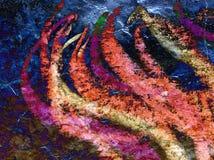 Vlam, abstract kunstwerk royalty-vrije stock fotografie