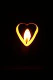 Vlam in een hart Stock Fotografie