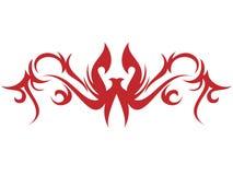 Vlam en tatoegering stock illustratie